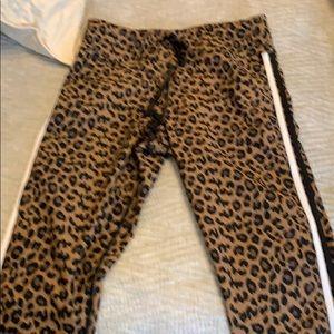 Aqua leopard leggings